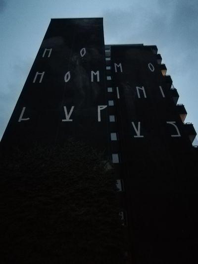 HOMO HOMINI LUPUS Mural Human Wolf Gloomy Dark Grave Hobbes City Education Sky Close-up
