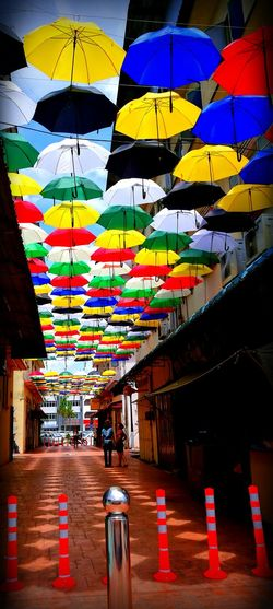 Umbrellas Colorful Hometown Oldstreet