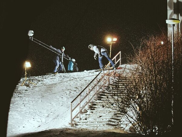 Helsinki by night. Filming Snowboarding with Juha Blid. Coldfocus Videoproduction