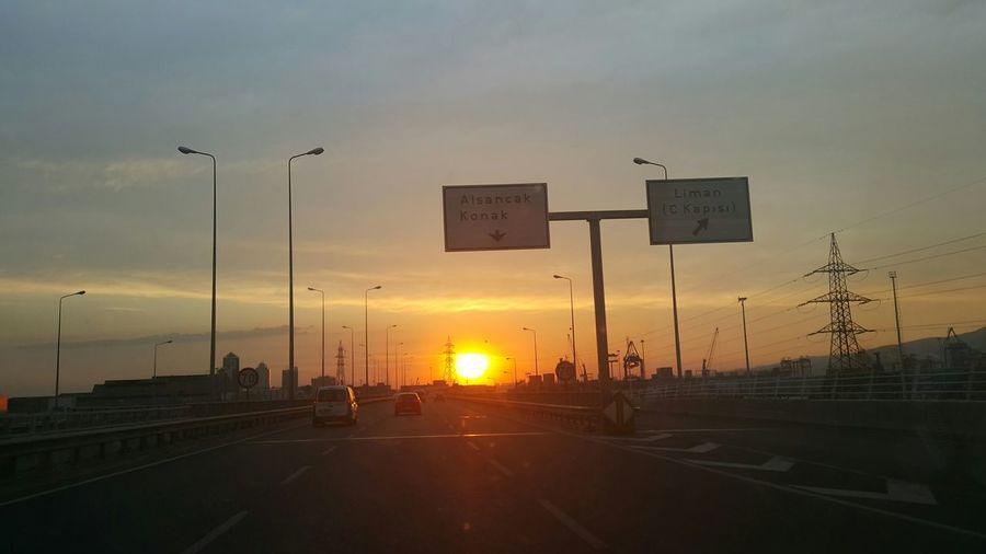 ı Love My City sun goes down