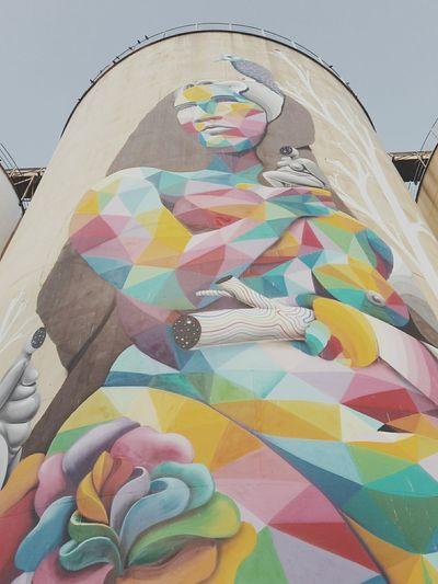 """""""La bella di Bellini"""" Porto di Catania Pastel Power Streetart"""