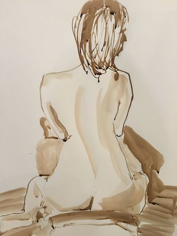 Art Sketch Beautiful Woman Woman Back Drawings EyeEm Selects Human Representation Art And Craft Indoors  White Background