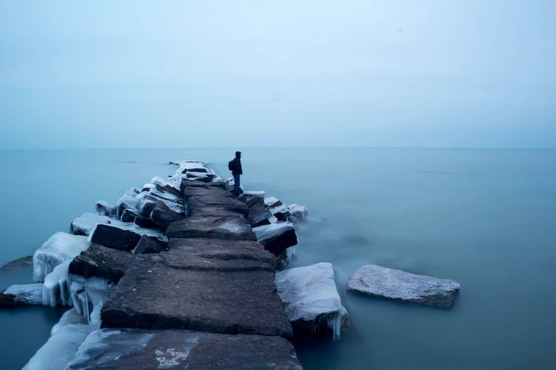 Deepfreeze Canon Lake Erie Long Exposure Cleveland Outdoors