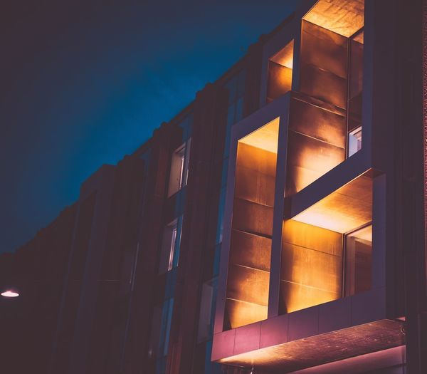 Building Architecture Built Structure Building Exterior Building Illuminated Low Angle View Night Window No People Nature Sky Residential District House Outdoors City Dusk Close-up Skyscraper The Architect - 2018 EyeEm Awards
