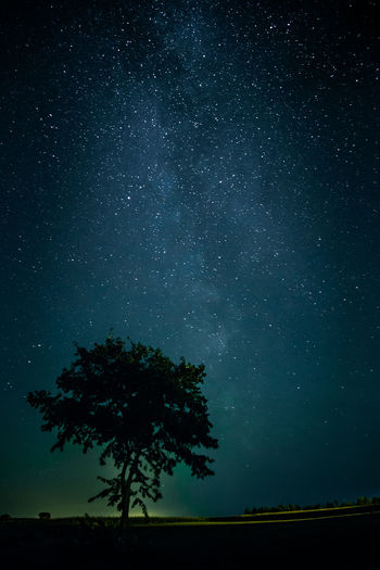 The Milky Way above Tatra mountains in Slovakia Astronomy Beauty In Nature Idyllic Milky Way Nature Night No People Scenics - Nature Silhouette Sky Space Star Star - Space Stars Tranquil Scene Tranquility