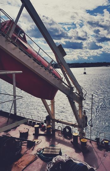 Sea Transportation Nautical Vessel Outdoors Freight Transportation Industry Day No People Water Architecture Shipyard Sky Marinelife Maritime Photography Mooring Coasting Coasting In The Clouds Merchantmarine Merchant Navy Sailing Ship Lifeboat Marine Photography Marine Life Waterfront
