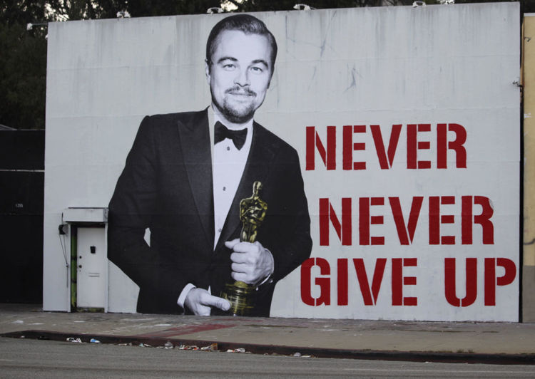 Communication Graffiti Hollywood Leonardo Leonardodicaprio  Lifestyles Losangeles Nevergiveup Oscars Oscars2016 Oscarsceremony