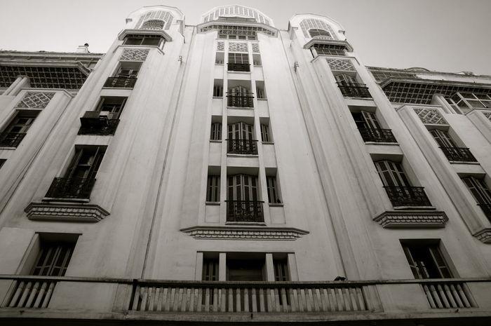 Architecture Architecture Art Deco Architecture Building Built Structure Casablanca, Morocco City Façade No People Residential Structure Window Monochrome EyeEm Best Shots Thaking Photos