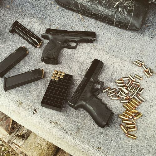 Had some excellent range time today with my love:) Rangetime GLOCK SmithAndWesson Gunporn Love
