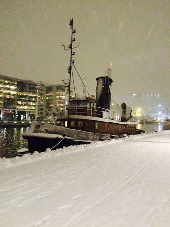 Snowy night Stockholm View