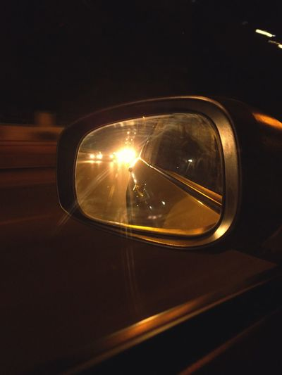 Car Transportation Reflection Mode Of Transport Land Vehicle Illuminated Side-view Mirror No People Close-up Indoors  Night Vehicle Mirror Travel Travel Photography Cars Drive&shot Long Drive Traveling Home For The Holidays