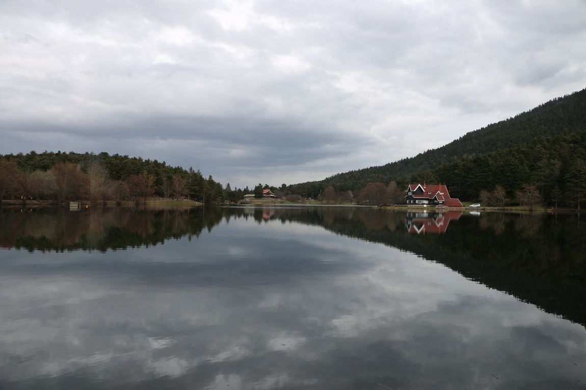 Been There. Sky Reflection Water Cloud - Sky Tree Architecture Day Outdoors Tranquility Nature Built Structure Waterfront No People Lake Mountain Scenics Building Exterior Beauty In Nature Ufuksenturk Abantgölü Turkey