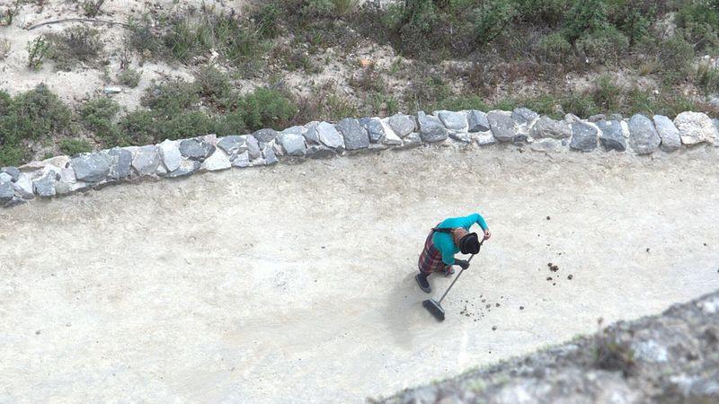 Keeping clean the path Quilotoa Ecuador AllYouNeedIsEcuador Indigenous  Lagoon