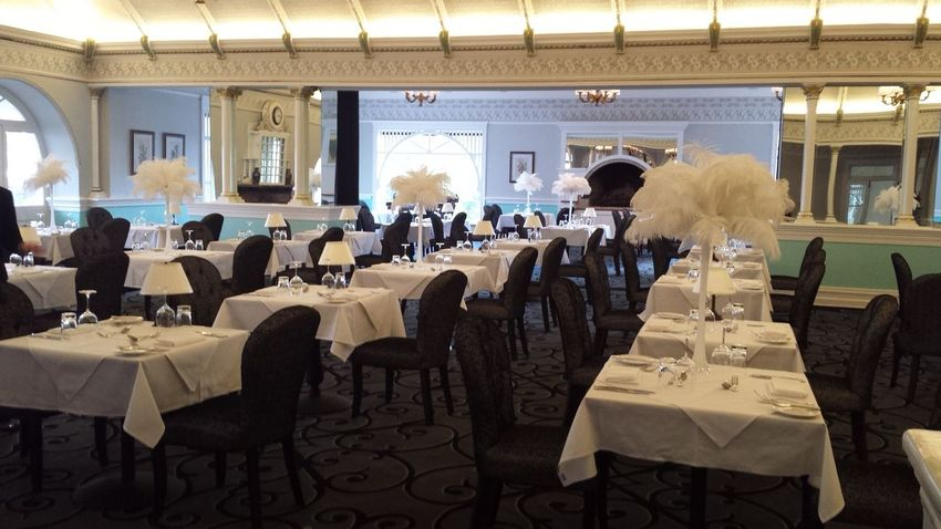 Architecture Art Deco Black And White Blue Mountains Domed Roof Feathers Hotel Hydro Majestic Pressed Ceiling Pressed Ceiling Refurbished Seating Arrangements Wedding Venue