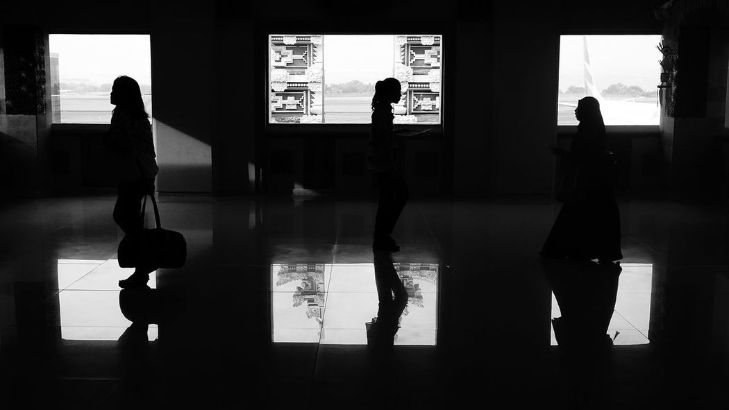 Streetphotography Silhouette People Only Men Men Adult Indoors  Standing Exercising Adults Only Occupation Sport One Man Only One Person Politics And Government Day Film Industry Black And White
