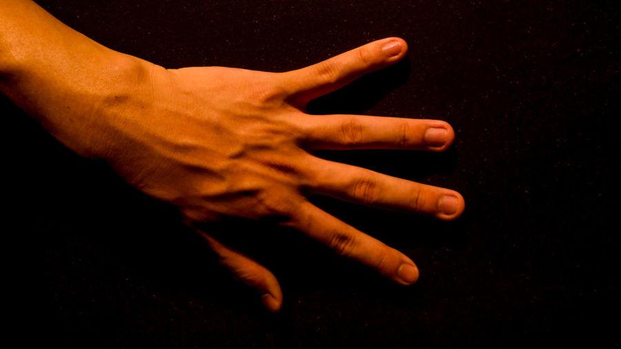 Left hand on