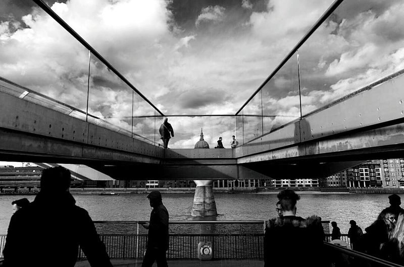 Postcode Postcards Bridge - Man Made Structure Architecture Connection Large Group Of People Adult Cloud - Sky People Built Structure Sky Men Day Outdoors City