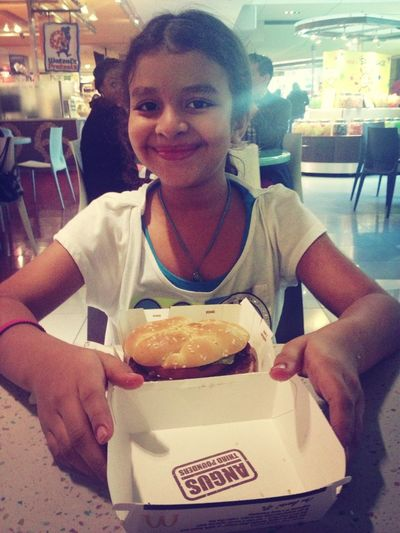 Eating at gallerias mcdonalds with sis