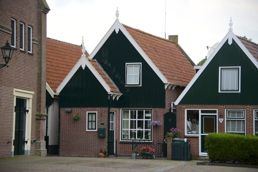 Dutch cycle route 'Oud en Nait Urk' in Flevoland. Netherlands Oud En Nait Urk The Netherlands Architecture Building Exterior Built Structure Dutch Flevoland Holland House No People Residential Building Urk