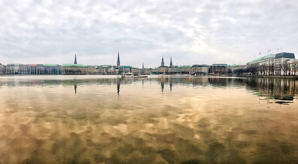 Reflections of Hamburg Panoramic Photography Panoramic Panorama Reflection Hamburg Alster Hamburg Cloud - Sky Sky Water Reflection Outdoors Nature Day Beauty In Nature No People