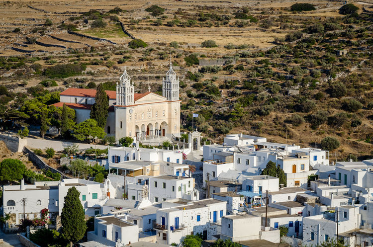 Aspect of Lefkes, Paros Church Paros Architecture Building Exterior Built Structure Community Cyclades Day Greece High Angle View Lefkes Mountain No People Outdoors Town Traditional Travel Destinations