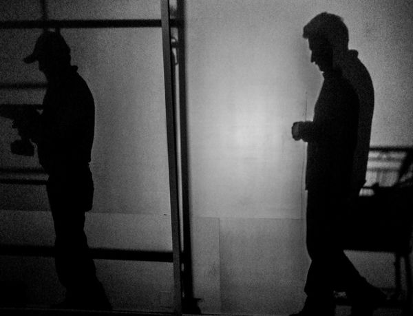 Only Men One Person Adults Only Standing One Man Only Indoors  People Adult Men Full Length Real People Day Road Streetphotography Blackandwhite Blancoynegro White Adult Adults Only Performance Silhouettes