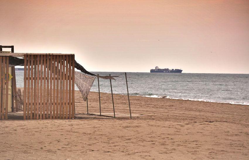 Beach Autumn Ship