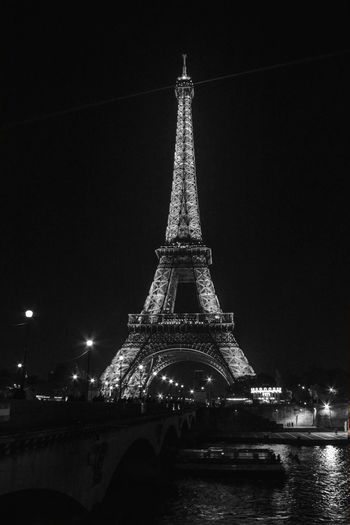 Architecture City Cultures Monument Night Outdoors TourEiffeil Toureiffel Toureiffelbynight Tourism Tower Travel Travel Destinations