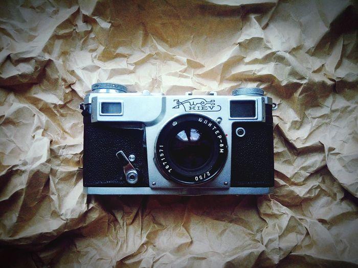 Photography Themes Film Camera Camera - Photographic Equipment Indoors  Old-fashioned Digital Camera Technology Rarity Camera Rare Thing Kiev Jupiter