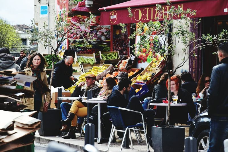 Eating People Outdoors Relaxing Getting Inspired Colour Of Life Bordeaux Bistrot France