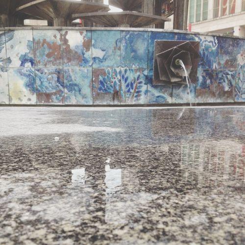 Wasser Spiegel EyeEm Best Shots EyeEm Best Shots - Urban Berlin Berlin Mitte Springbrunnen Alexanderplatz Spiegelung Blau