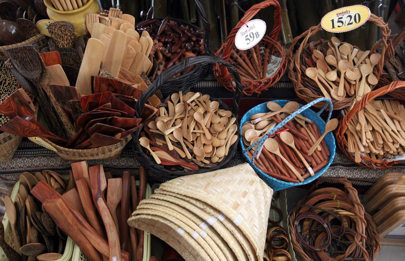 Wooden Souvenirs For Sale At Market