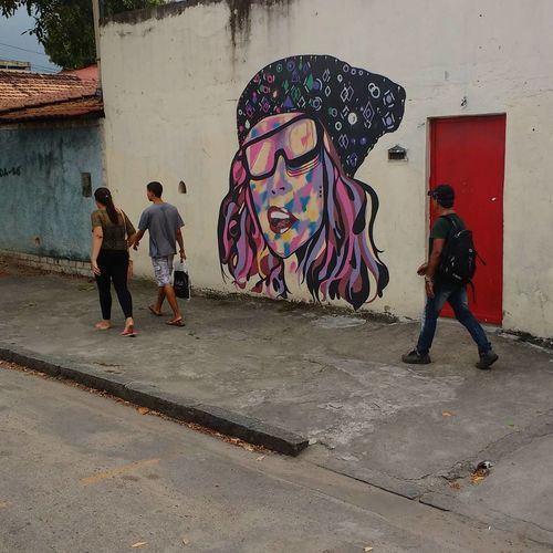 Graffiti Artist People Full Length Adult Street Art Adults Only Men Real People Standing Multi Colored Only Women Day Outdoors Rio De Janeiro Fotography Popular Brasil Architecture Bangu