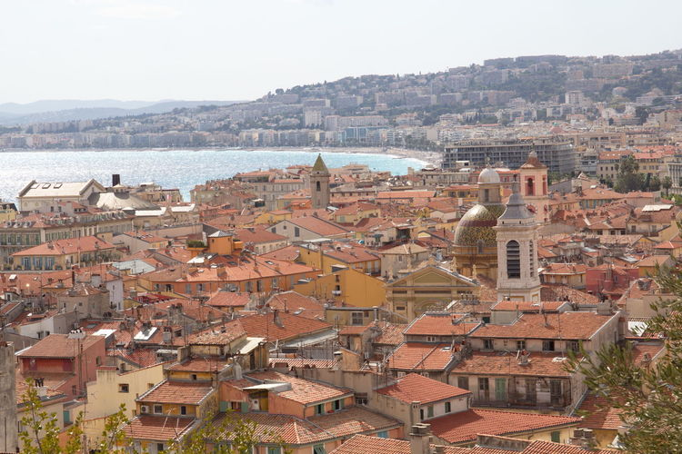 Church Nizza Architecture Building Exterior Built Structure City Cityscape Clear Sky Day High Angle View Nature Nice No People Outdoors Roof Scenics Sea Sky Tiled Roof  Town Travel Destinations Water