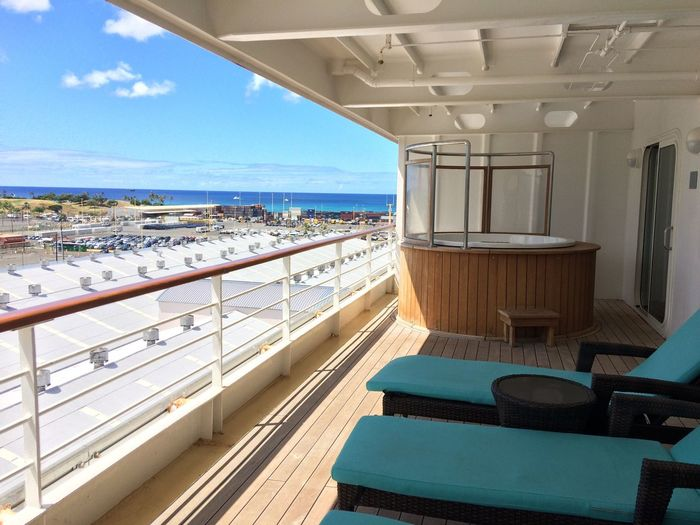On board the Pride of America Paradise Sailing Cruise Ship Vacay Nofilter Luxury Luckywelivehawaii Docked Staycation Oahu, Hawaii Cityview Hottub  Nofilter#noedit Allaboard OnAShip Floatinghotel Nautical Vessel Floating On Water The Week On EyeEm Grandsuite