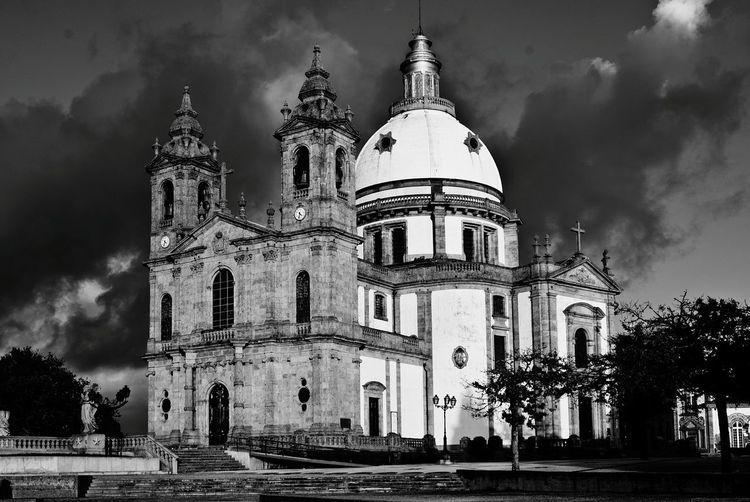 Historic church against sky