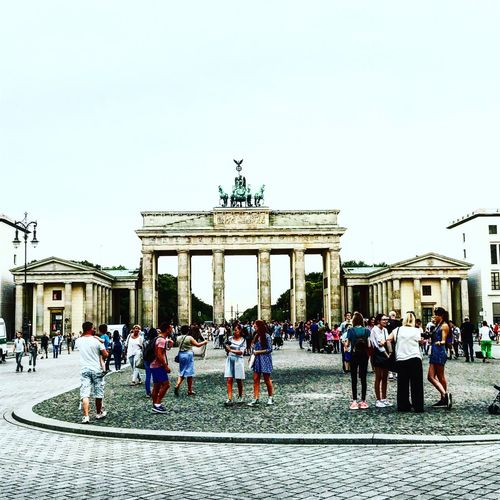 Large Group Of People Architecture Built Structure Real People Travel Destinations Tourism Clear Sky Travel Men Statue History Women Outdoors City Life Berlin