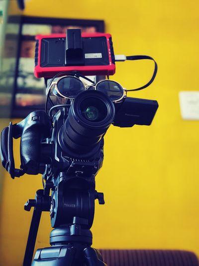 Close-up of camera