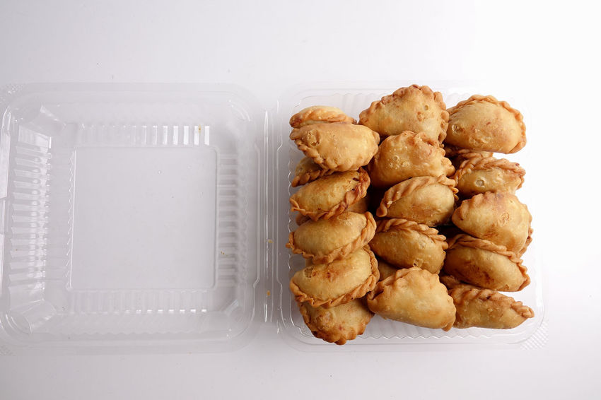 Curry Puffs (Epok-Epok / Karipap Pusing) - Deep Fried Malaysian, Singaporean, and Thai snack filled with curried meat and/or vegetables. Asian Food Close-up Curry Puff Food Food And Drink Freshness High Angle View Indoors  Karipap No People Ready-to-eat Snack Still Life Temptation