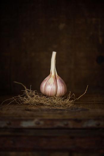Close up of garlic bulb