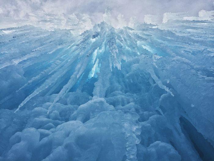 Full Frame Shot Of Ice Crystal