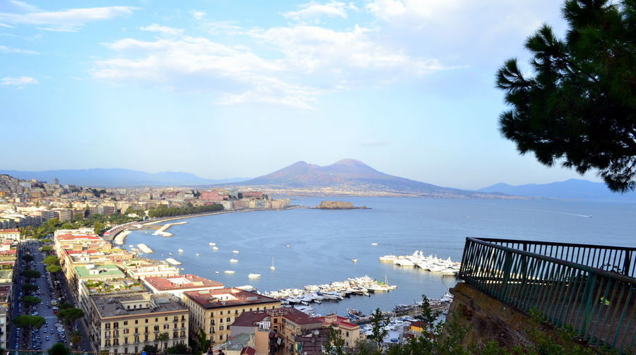Naples Vesuvio View Architecture Beauty In Nature Building Exterior Built Structure City Cityscape Cloud - Sky Day High Angle View Mountain Mountain Range Nature Nautical Vessel No People Outdoors Place To Visit Scenics Sea Sky Town Tree Water