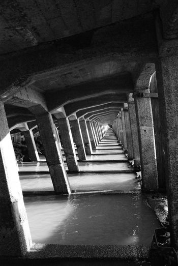 Muelle de Paisandu Arquitecture Infinito Infinty Perspective Pier Architecture Balck And White Blancoynegro Bnw Bnw_collection Bnwphotography Built Structure Depth Depth Of Beauty Landscape Muelle Perspectives And Dimensions Profundidad