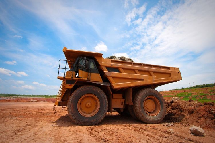 Sky Construction Vehicle Commercial Land Vehicle Outdoors Cloud - Sky Digging Nature No People Day Coal Coalmine Coal Mine Mine Mining Mining Industry Truck Minning Industrial Industry