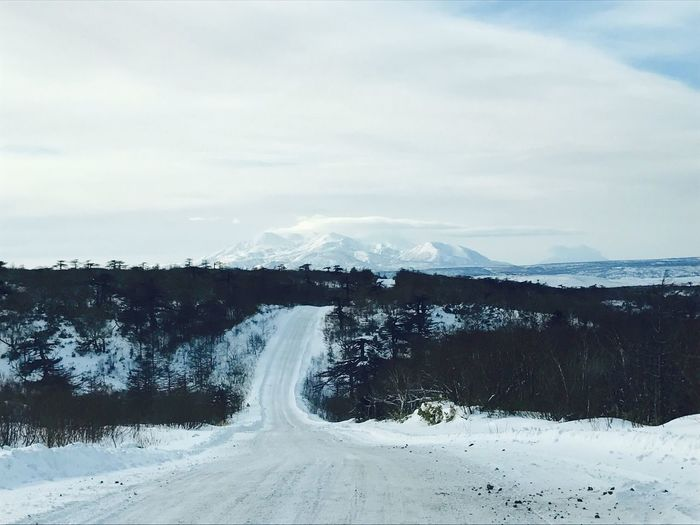 Outdoors Day Ice Snow Sky Cold Temperature Nature Winter Landscape Beauty In Nature Mountain Cloud - Sky No People Road