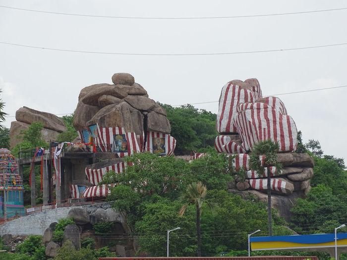 A Hindu Temple On The Rocky Mountain Ghatkesar, Hyderabad