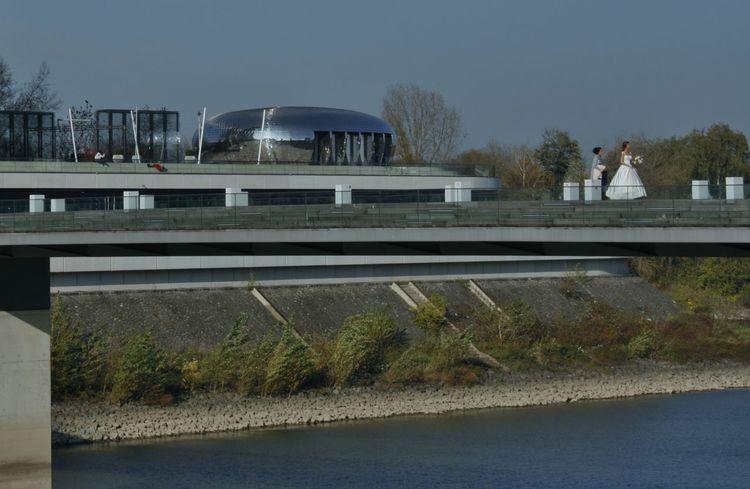 Düsseldorf Am Rhein Modern Architecture Silverware  Architecture Düsseldorf, Medienhafen Marrige  River Travel Destinations Waterfront