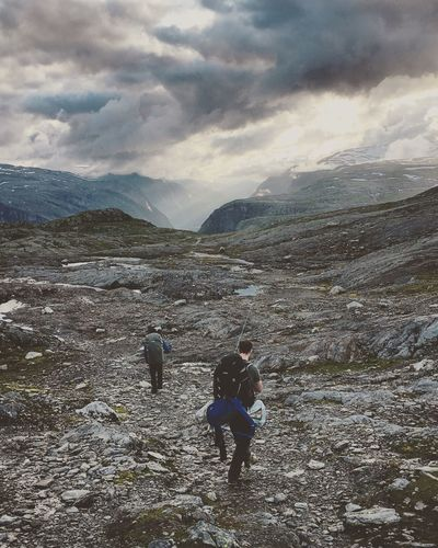 Sky Outdoors Hiking Tranquility Norway