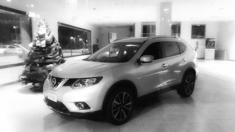 Nissan Nissan Xtrail Nissan X-trail Car Transportation Snowing Land Vehicle City Illuminated Driving Close-up Night Outdoors People One Person