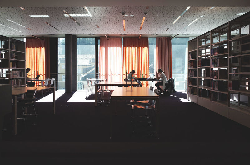 Architecture Built Structure Chair Indoors  Interior Views Library Modern Person School Student Life Students Table TakeoverContrast Window Windows The City Light